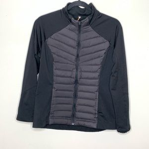 Lucy Down Filled Running Jacket Size Large Black